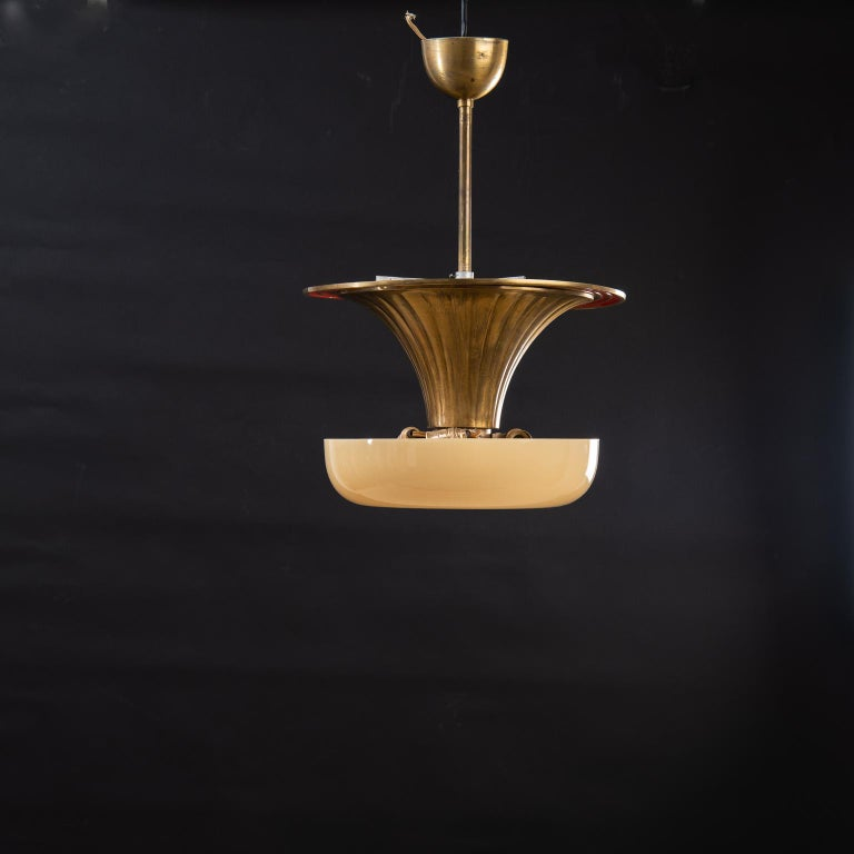 Mid-Century Modern 1930s Art Deco Ceiling Lamp by Harald Notini For Sale