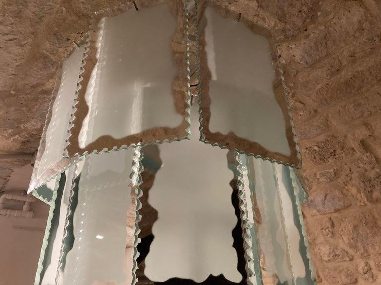 Mid-20th Century 1930s Art Deco Chandelier For Sale