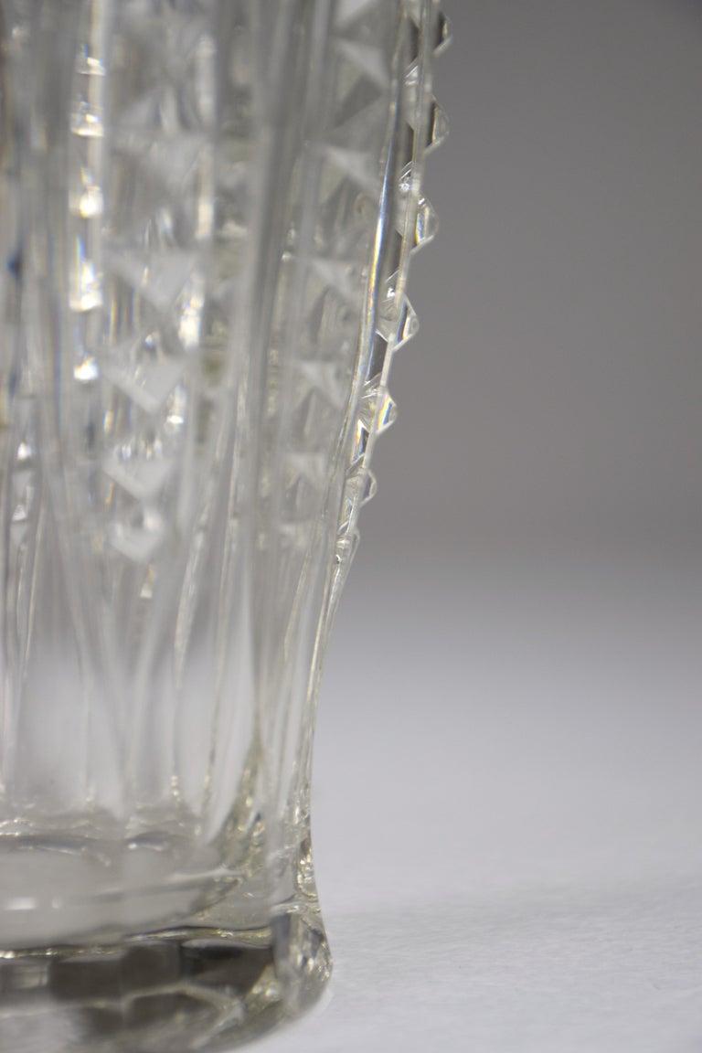Mid-20th Century 1930s Art Deco Charles Graffart Cut Crystal Vase For Sale