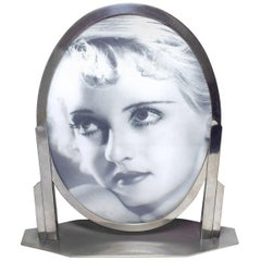 1930s Art Deco Chrome Picture Frame