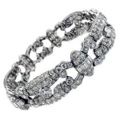 1930s Art Deco Diamond Platinum Bracelet