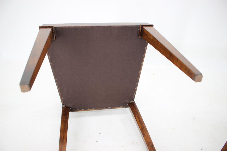 1930s Art Deco Dining Chairs, Czechoslovakia For Sale 5