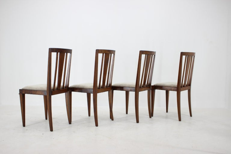 1930s Art Deco Dining Chairs, Czechoslovakia In Good Condition For Sale In Praha, CZ
