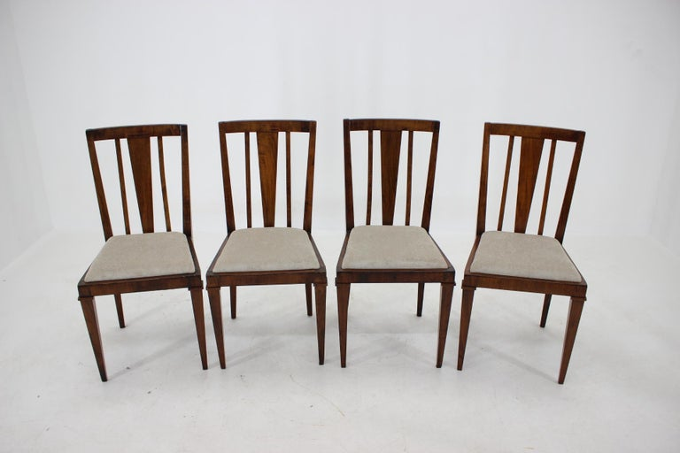 Mid-20th Century 1930s Art Deco Dining Chairs, Czechoslovakia For Sale