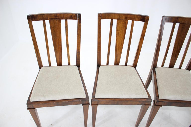 Wood 1930s Art Deco Dining Chairs, Czechoslovakia For Sale