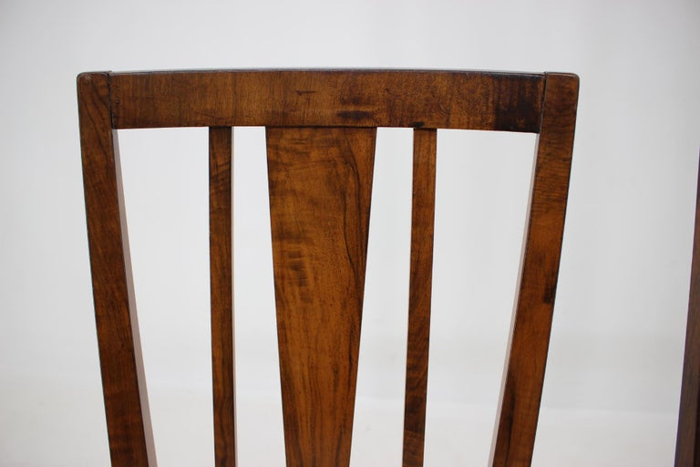 1930s Art Deco Dining Chairs, Czechoslovakia For Sale 3