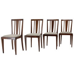 1930s Art Deco Dining Chairs, Czechoslovakia