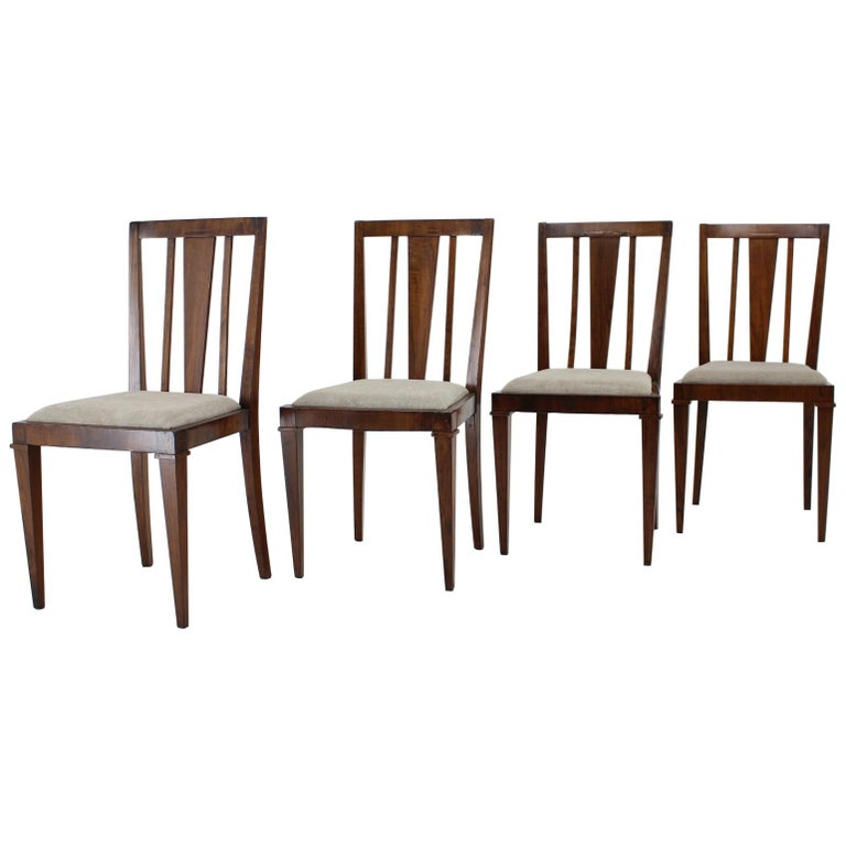 1930s Art Deco Dining Chairs, Czechoslovakia For Sale