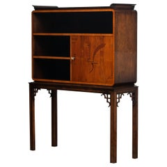 1930s, Art Deco Dry Bar or Display Cabinet for Good Prosperity Made in Sweden