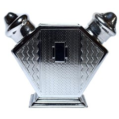 1930s Art Deco English Chrome Cruet