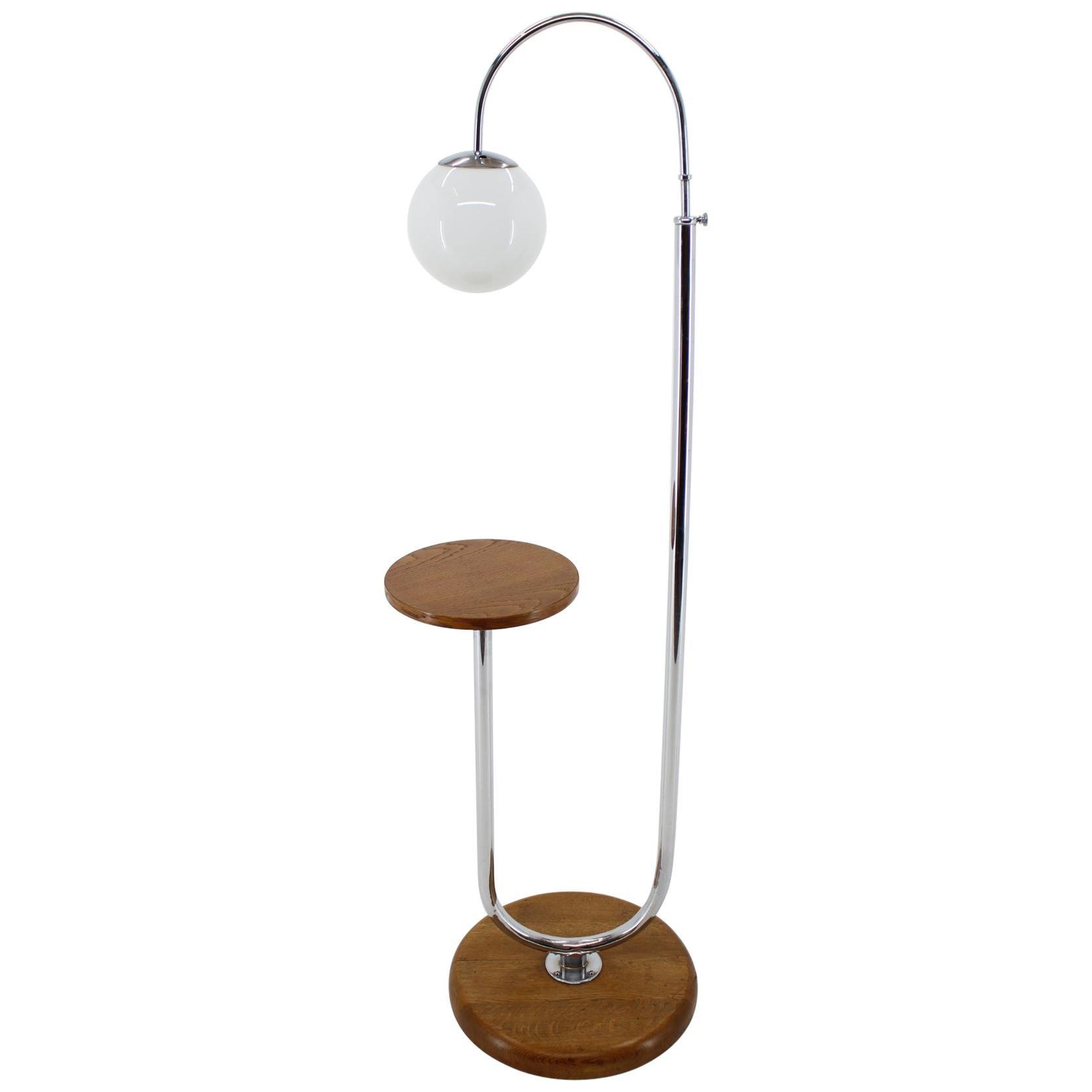 1930s Art Deco Floor Lamp, Czechoslovakia