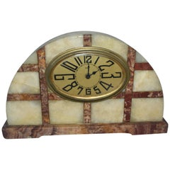 1930s Art Deco French Marble Clock