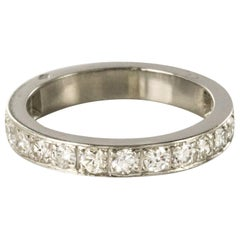 1930s Art Deco French Platinum Diamond Wedding Ring
