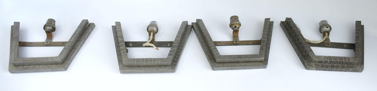 1930s Art Deco French Wall Light Sconces, Set of Four For Sale 4