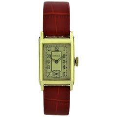 1930s Art Deco Gents Wristwatch Old Stock, Never Worn by Bifora