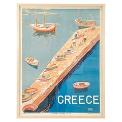 1930s Art Deco Greek Travel Poster