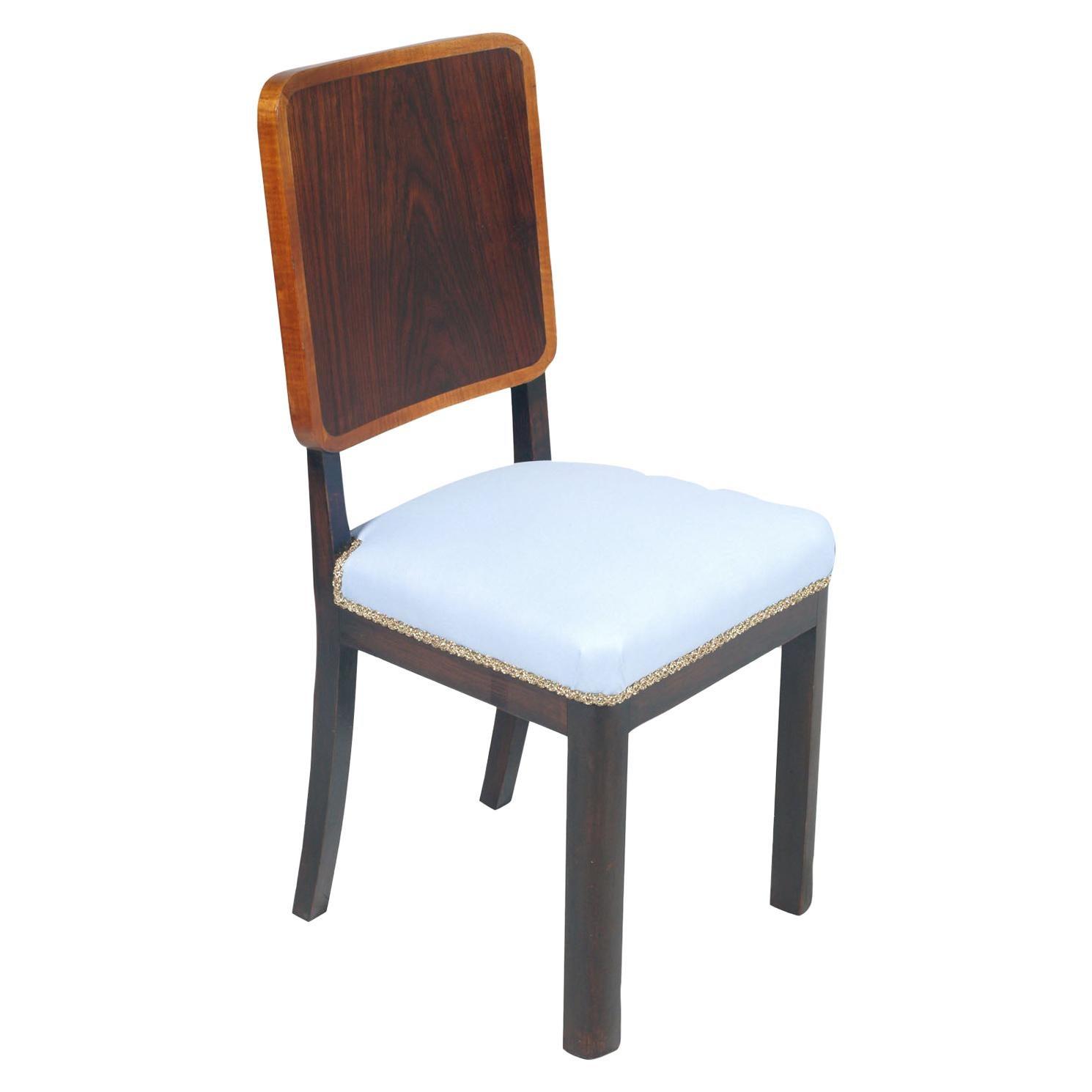 1930s Art Deco Italian Side Chair by Borsani, Atelier di Varedo New Upholstered