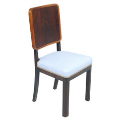 1930s Art Deco Italian Side Chair by Borsani, Atelier di Varedo New Upholstered