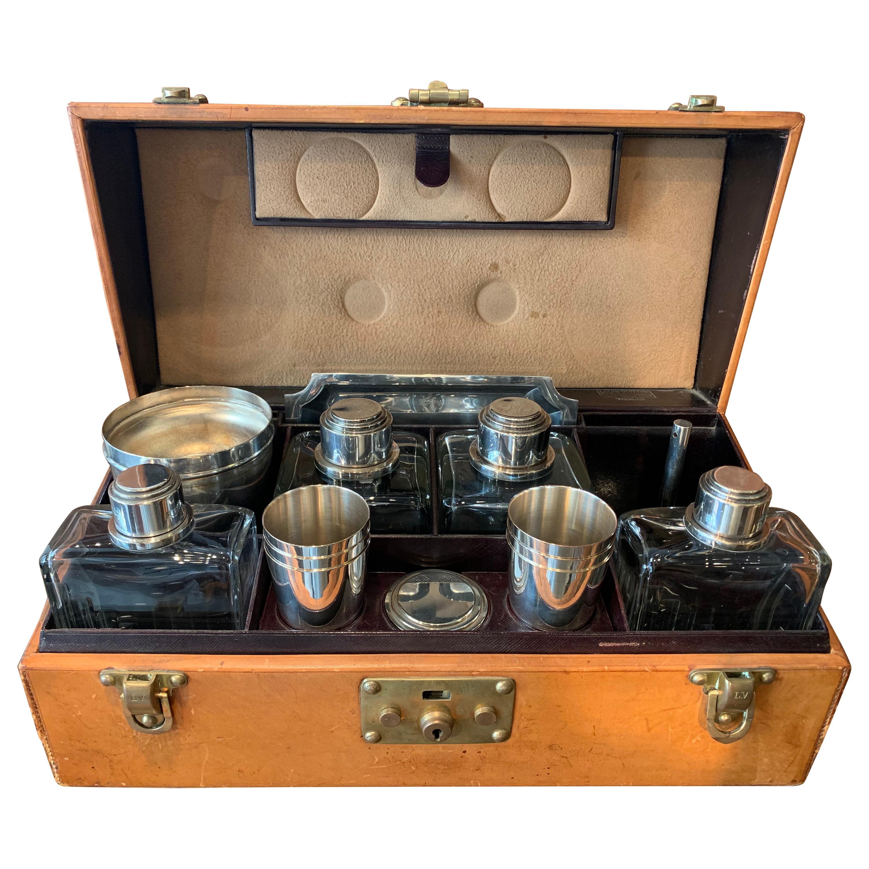 1930s Art Deco Louis Vuitton Bar Set Case