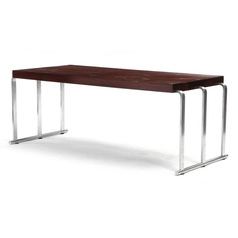 American 1930s Art Deco Mahogany Low Table by Gilbert Rohde for Herman Miller For Sale