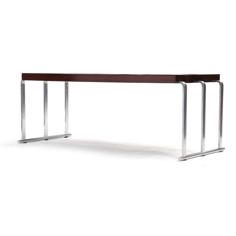 1930s Art Deco Mahogany Low Table by Gilbert Rohde for Herman Miller In Good Condition For Sale In Sagaponack, NY