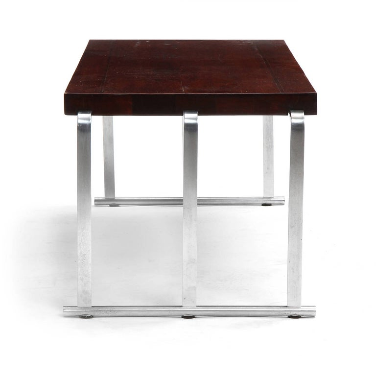 Steel 1930s Art Deco Mahogany Low Table by Gilbert Rohde for Herman Miller For Sale