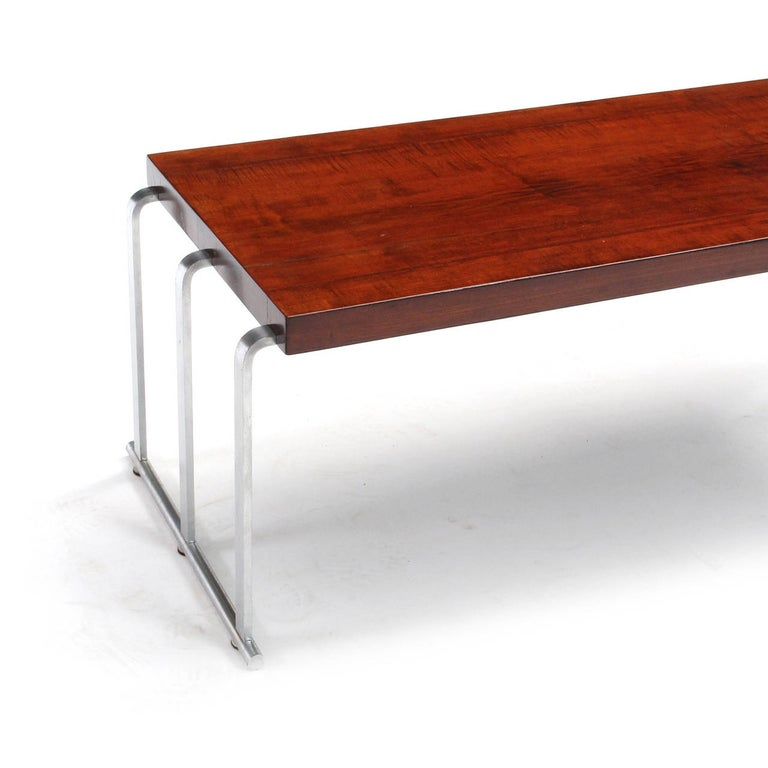 1930s Art Deco Mahogany Low Table by Gilbert Rohde for Herman Miller For Sale 1