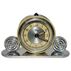 1930s Art Deco Miniature Alarm Clock by Dep