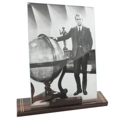 1930s Art Deco Modernist Macassar Picture Photo Frame