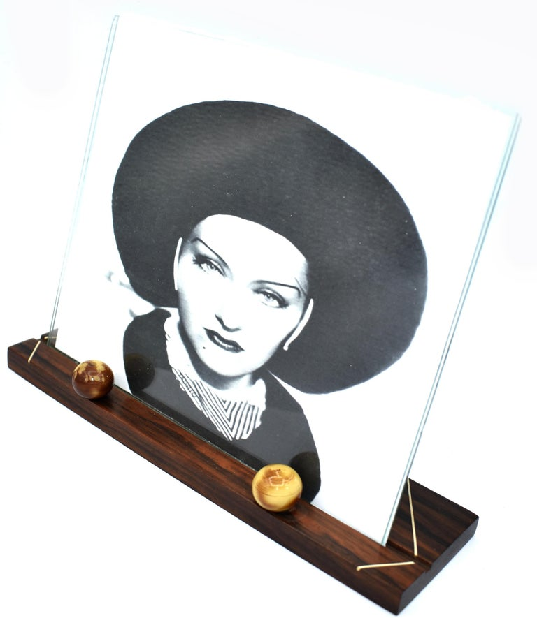 20th Century 1930s Art Deco Modernist Wood and Bakelite Picture Frame For Sale