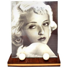 1930's Art Deco Modernist Wood And Bakelite Picture Frame