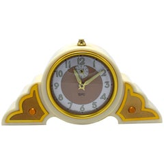 1930s Art Deco Odeon Cream Bakelite Clock