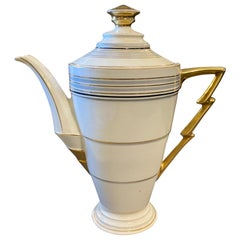 1930s Art Deco Porcelain German Coffee Pot