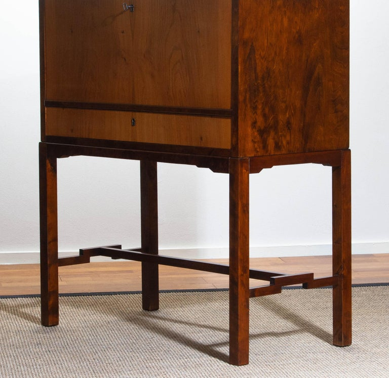 1930s, Art Deco Secretaire Made by Nordiska Komaniet Stockholm Sweden For Sale 7