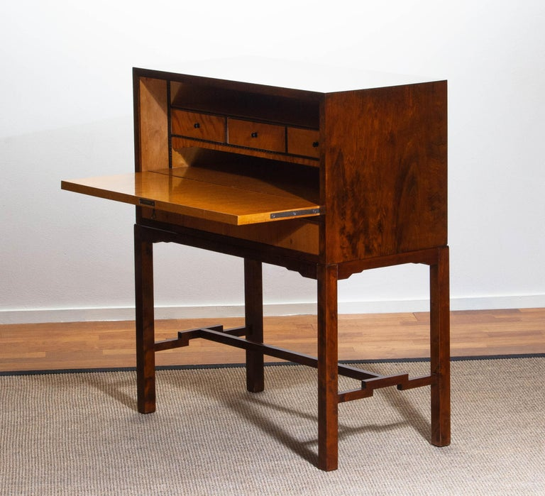 1930s, Art Deco Secretaire Made by Nordiska Komaniet Stockholm Sweden For Sale 8