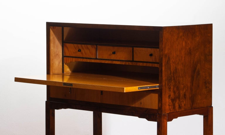 1930s, Art Deco Secretaire Made by Nordiska Komaniet Stockholm Sweden For Sale 9