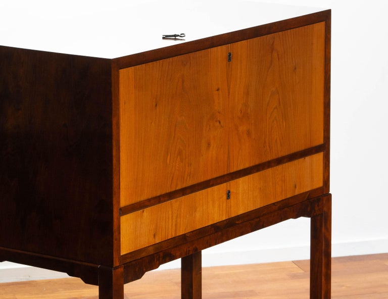 Birch 1930s, Art Deco Secretaire Made by Nordiska Komaniet Stockholm Sweden For Sale