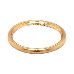 1930s Art Deco Tiffany & Co. 18 Karat Yellow Gold Band Ring