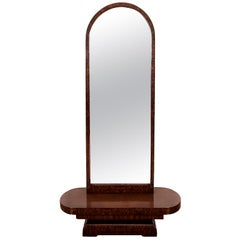 1930s Art Deco Vanity, Mahogany and Burr Mahogany Veneer, France