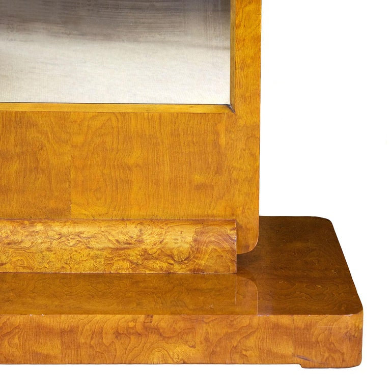 Mid-20th Century 1930s Art Deco Vanity, Solid Wood Base and Maple Veneer, France For Sale
