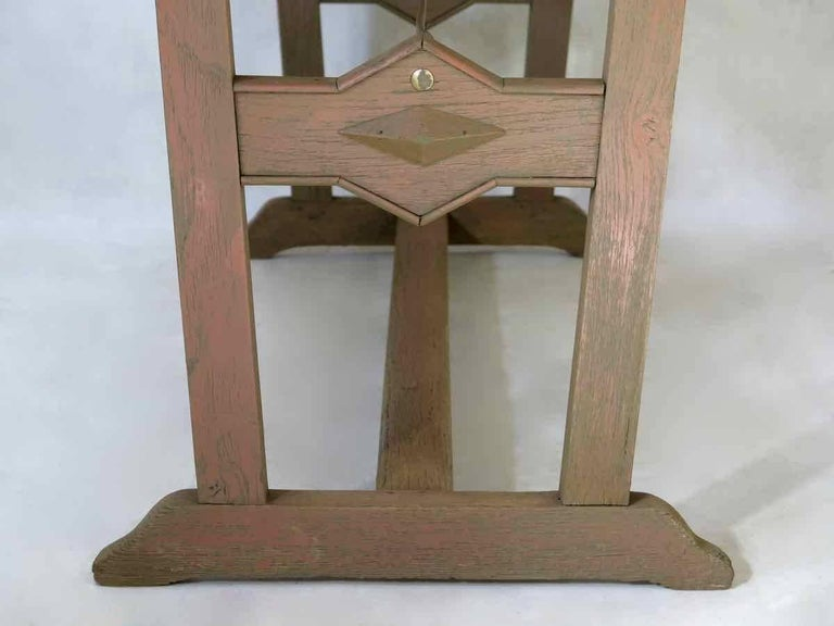 20th Century 1930s Arts & Crafts Bistro Table with Marble Top from France For Sale