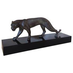 1930s Astonishing Art Deco Panther Sculputure, Made in france