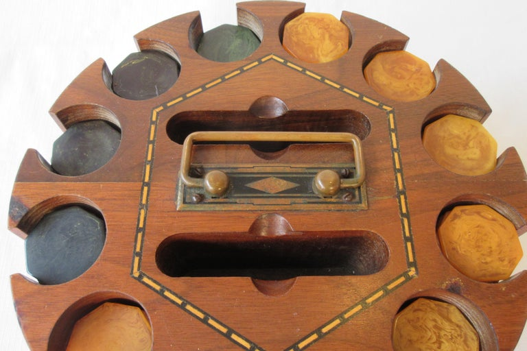 Mid-20th Century 1930s Bakelite Poker Chip Set For Sale