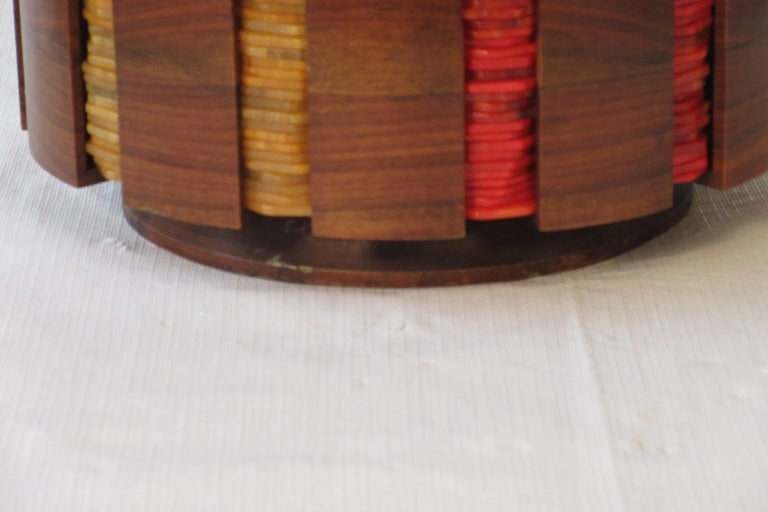 1930s Bakelite Poker Chip Set For Sale 2