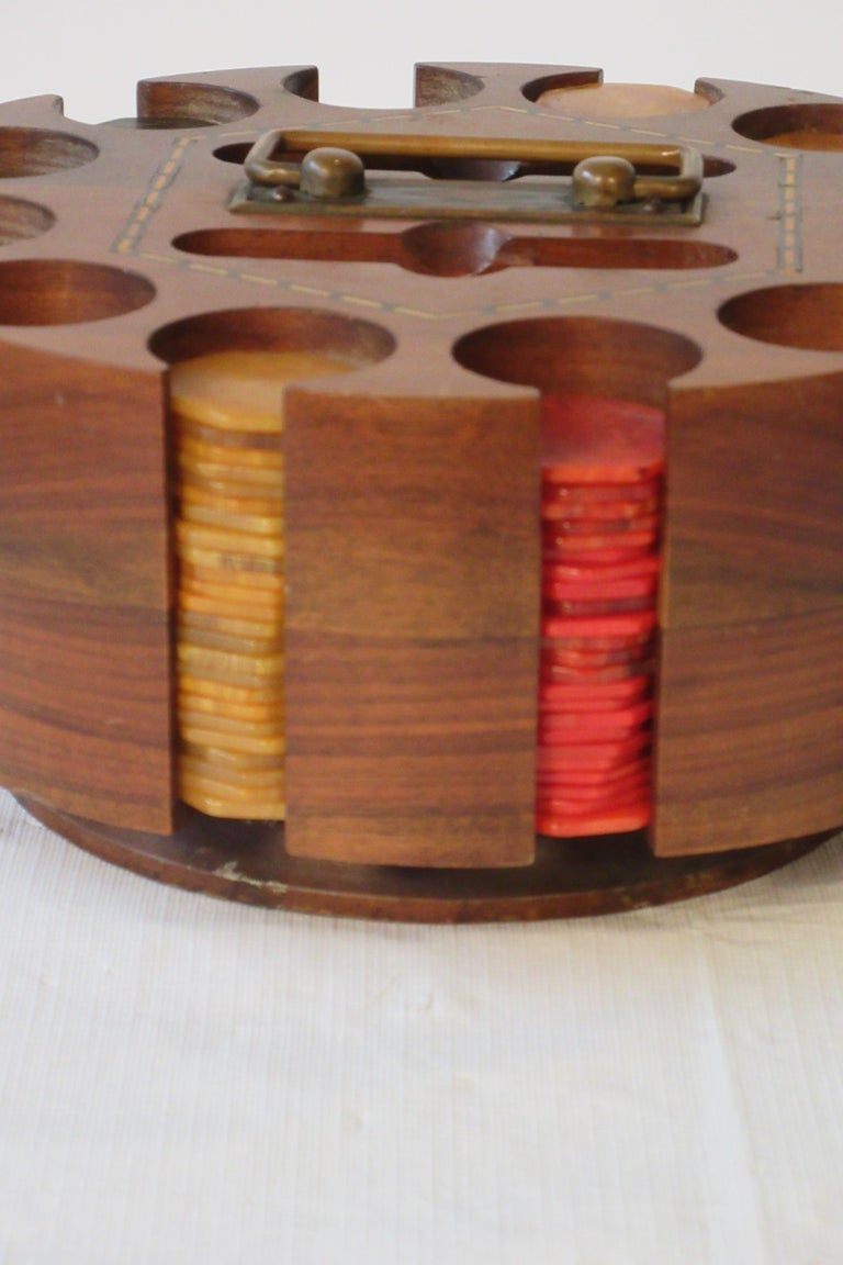 1930s Bakelite Poker Chip Set For Sale 3