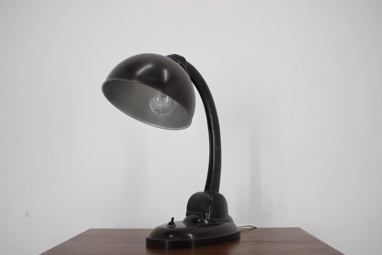 Art Deco 1930s Bakelite Table Lamp by Eric Kirkman Cole, Czechoslovakia For Sale
