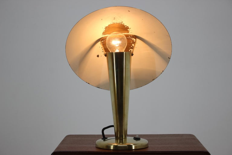 1930s Bauhaus Brass Table Lamp For Sale 1