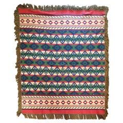 "1930""s Beacon Indian Design Camp Blanket W/ Fringe"