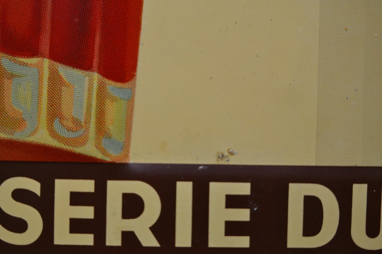 1930s Belgian Beer Sign for Cherry Beer Lambic, Art Deco Tin Sign For Sale 10