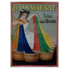 "1930s Belgian Dorfi's ""L' Alsacienne"" Poster"